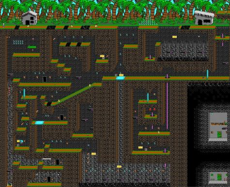 An expanded view of Isle of Tar, a level from Commander Keen Episode IV: Secret of the Oracle. Screenshot courtesy of John Romero.