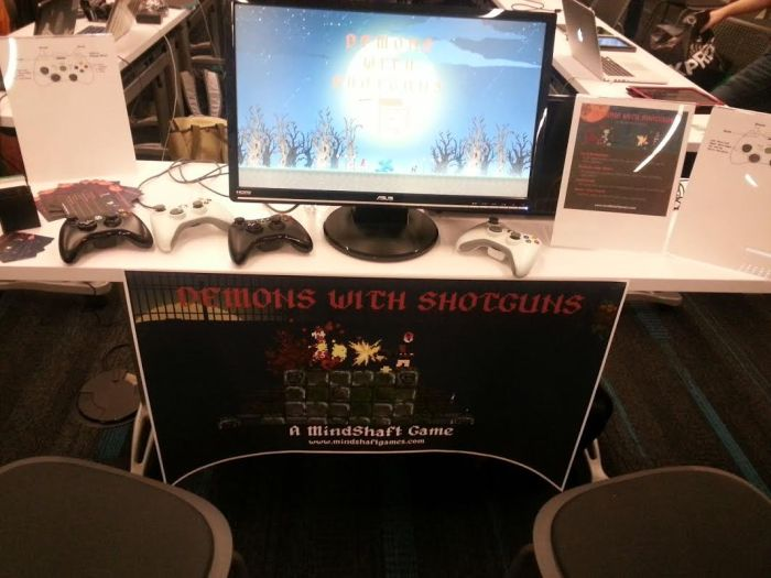 DiMucci's booth at Playcrafting.
