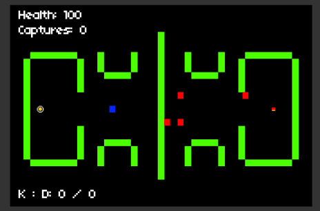 Minimally Run 'n' Gun, one of DiMucci's first successful game-jam creations.