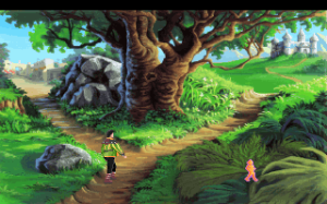 During development of King's Quest II, Sierra co-founder Roberta Williams instituted a tradition: a promising developer would get to take the wheel with her on the current KQ game, then go on to direct their own project.