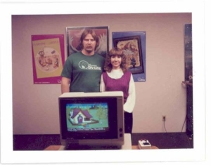 Ken and Roberta Williams near the launch of the original King's Quest for the IBM PCjr. (Photo credit: Adventure ClassicGaming.com