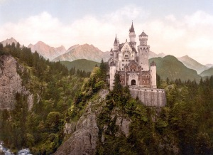 Neuschwanstein, the most famous of Ludwig II's many castles.