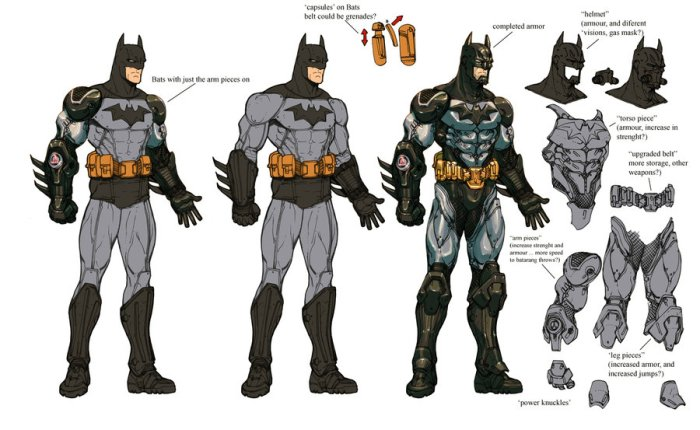 Concept art from Batman: Arkham Asylum.