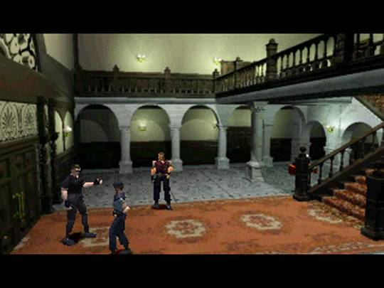 The lobby of Biohazard's mansion, and the heart of the game.